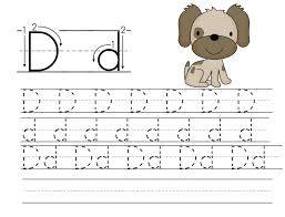 Printable Trace Letter D Worksheets   Printable Shelter