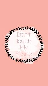 Wallpaper listras don t touch my phone gray pink whit fondo. Don T Touch My Phone Peach Dont Touch My Phone Wallpapers Hipster Phone Wallpaper Cute Wallpaper For Phone