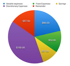 Monthly Expenses Chart Budgeting Financial Literacy