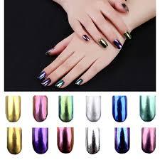 Nové 2g Krabice Shinning Magic Mirror Práškové Prachové Nehty Glittery Diy Nail Art Sequins Chrome Pigment Dekorace Nástroje