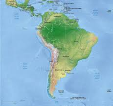 Map Of South America Continent Political With Shaded Relief