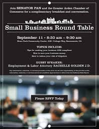 small business round table conzelmann community center at howe park sacramento 11 september