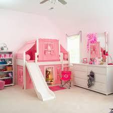 girls bedroom vanity. stunning white and pink girls bedroom featuring tent loft bed with slide vanity set