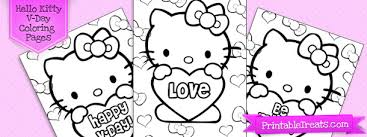 You can print or color them online at getdrawings.com for absolutely free. Hello Kitty Valentines Coloring Pages Printable Treats Com