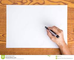 Hand Write On White Paper Stock Image Image Of Business 64411173