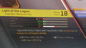 Light Of The Legion Anthem Light Of The Legion Bug Luck Stat Is Gone Anthemthegame