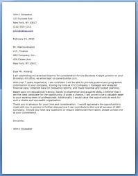 Cover Letter Business Analyst Mckinsey For Jobs Pinterest