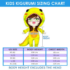 Kigurumi Onesie Size Chart New Ali Red Costume Character Kids Kigurumi Onesie Kk264