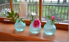 martha stewart glass paint glass paint vases from haven she transformed her clear glass into beach