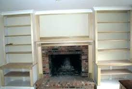 built in shelves around fireplace plans building fireplac