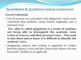a textual and contextual comparison of voice in student writing in  quantitative qualitative textual comparison