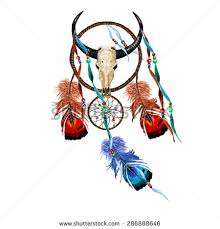 What Do Dream Catchers Mean Watercolor Dream Catcher Buffalo Skull Feathers Stock Vector 96
