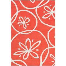 jaelyn bright orange 8 ft x 11 ft area rug