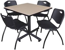 break room tables and chairs. Break Room Tables And For Modern Concept Table With M Stack Beige Finish Chairs