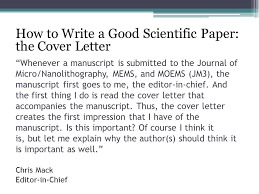 cover letters for manuscripts writing cover letters for scientific manuscripts ppt video online