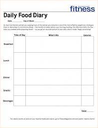 Food Intake Chart New Food Diary Template Free Printable