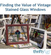 value of vintage stained glass windows