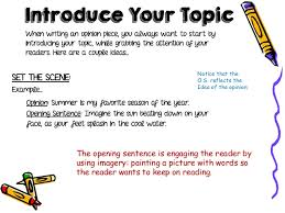 opinion essay lessons  21 the opening sentence
