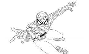Spiderman Uomo Ragno In Volo Stampa E Colora Gratis Disegni Da