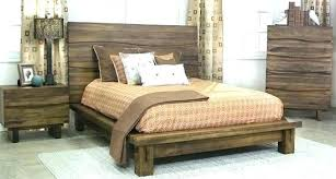 Pretty King Wood Bed Frame Platform Size Solid Diy Real Queen Low ...