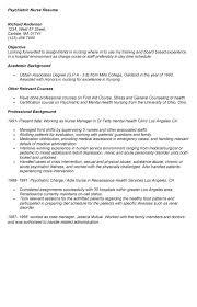 sample psychiatric nurse resume