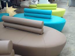 sofa oval shaped in polyurethane and