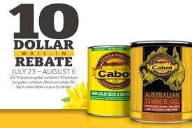 Cabot Exterior Stain Rebate