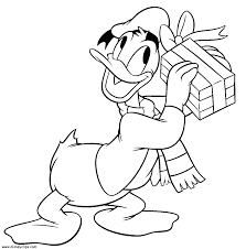 Donald Gift Coloring Page