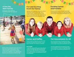 Fun Brochure Templates Family Fun Day Tri Fold Brochure Template