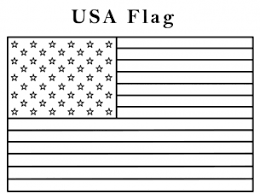 American Flag Coloring Page Kindergarten Free Printable Coloring