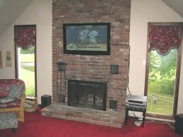 hang tv on brick wall large size of top hang above brick fireplace decor idea stunning hang tv on brick