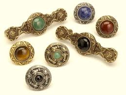 knobs and pulls. Victorian Jewel Knobs And Pulls Antique Brass Pewter Gold Finishes Semi-precious Stones Www N