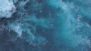 Ocean Wave Background Blue Ocean Waves And Foam 4k Background Footage Stock Video Footage