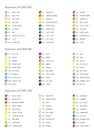 Tombow Irojiten Color Chart Tombow Colour Dictionary