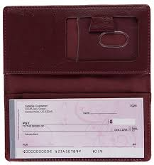 burdy leather side tear checkbook cover like this product