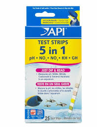 Api 5 In 1 Aquarium Test Strips 25 Strips Aquarium Solutions