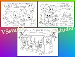 Small Picture Daniel Tigers Neighborhood Coloring Pages Virtrencom
