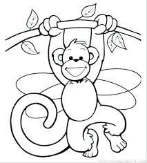 Monkey Coloring Pages To Print Socialmetricinfo