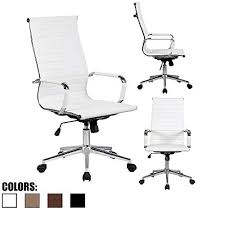 unique modern office chairs home. 2xhome White Contemporary Modern High Back Ribbed PU Leather Tilt  Adjustable Office Chair With Wheels \u0026 Arm Rest Rolling Designer For Home Boss Guest Task Unique Modern Office Chairs Home R