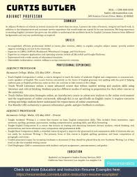 Adjunct Professor Resumes Adjunct Professor Resume Samples Templates Pdf Doc 2019