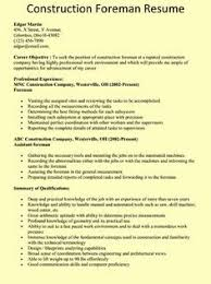 25 Awesome Electrical Foreman Resume Samples Units Card Com