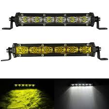 <b>2pcs White Yellow 18W</b> Led Light Bar Work Driving Barra Led 12V ...