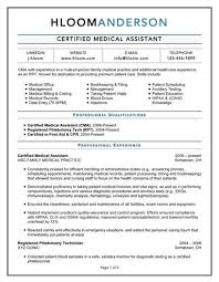 certified medical assistant resume examples of medical resumes