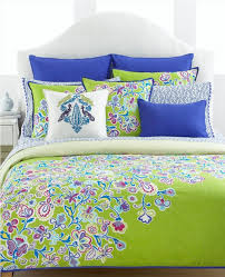 comforter sets queen parksville blue green flower print comforter sets white faux leather portman headboard