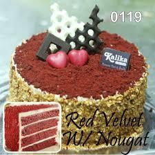 Red Velvet With Nougat Kue Ulang Tahun Bandung