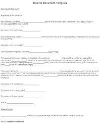 Line Divorce Form Letter Format Template Prank Papers Sample Free Adorable Prank Divorce Papers