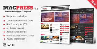 responsive blogger templates magpress magazine responsive blogger template by themelet
