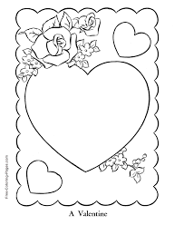 Small Picture Valentines Day coloring pages Rose Hearts