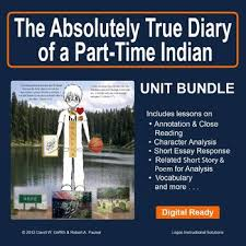absolutely true diary of a part time n by sherman alexie absolutely true diary of a part time n by sherman alexie unit bundle