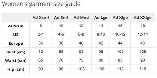 Energetiks Size Chart Sues Shop Sizing Charts
